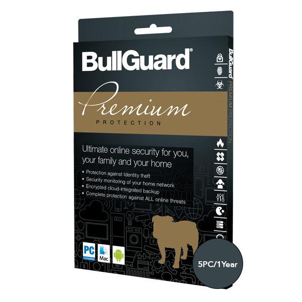 BullGuard Premium Protection – 5 PCs, 1 Year