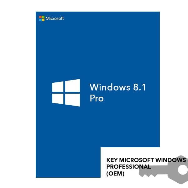 KEY MICROSOFT WINDOWS 8.1 PROFESSIONAL (OEM)